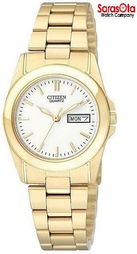 Citizen EQ0562-54A Day/Date Gold Tone Stainless Steel Quartz Women's Watch