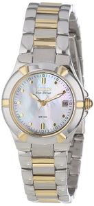 Citizen Eco Drive EW1534-57D MOP Dial Two Tone Stainless Steel Women's Watch