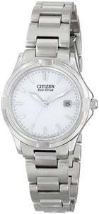 Citizen Eco Drive EW1960-59A White Dial Stainless Steel Dress Women's Watch