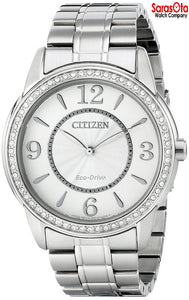 Citizen Eco Drive FE7000-58A Stainless Steel Crystal Bezel Women's Watch
