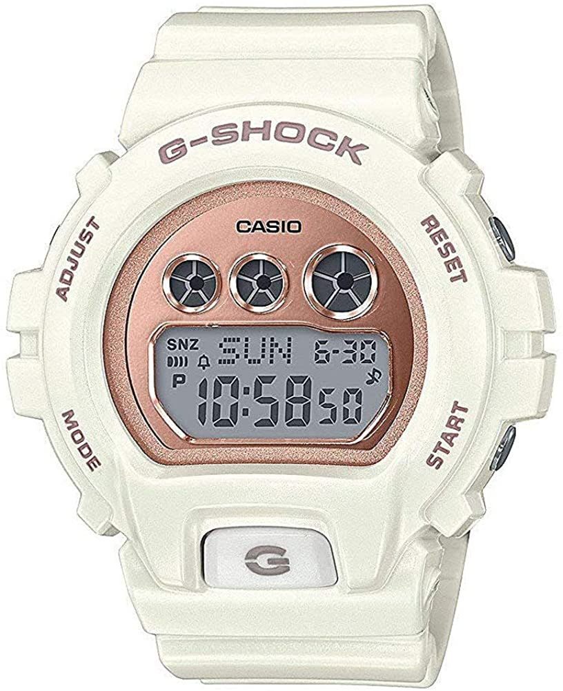 Casio G-Shock GMD-S6900MC-7CR White Resin Rose Gold Tone Dial Wrist Watch