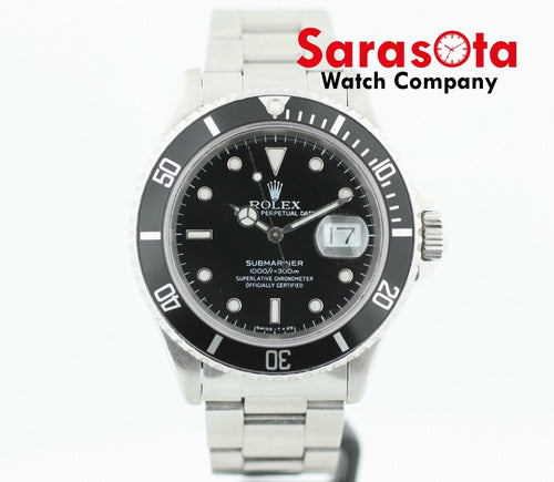 Rolex Submariner 16610 Stainless Steel Black Dial 40mm 1989 Men's Watch