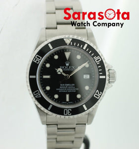 Rolex 16600 Sea-Dweller Stainless Steel Black Dial 40mm 2002 Diver Men's Watch