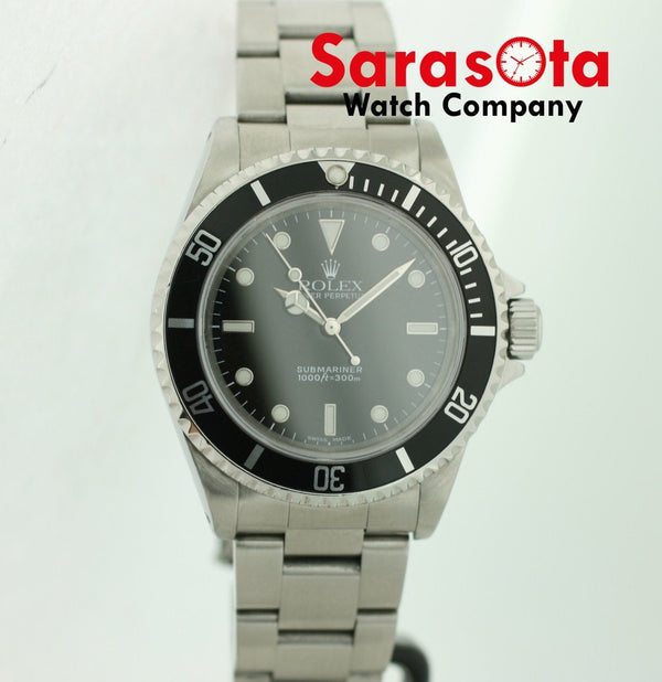Rolex Submariner 14060 No Date Stainless Steel Black Dial 39mm 2000 Men's Watch