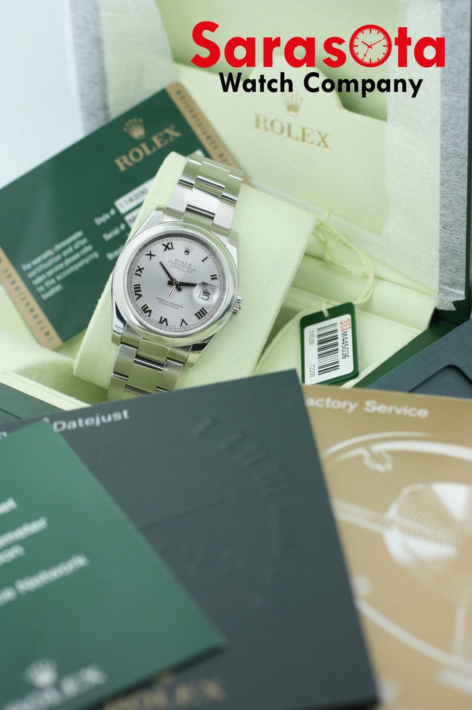 Rolex Datejust 116200 Stainless Steel Silver Roman Dial 2008 Wrist Watch W/B/P - Sarasota Watch Company