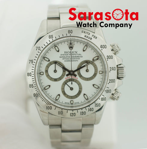 Rolex Daytona 116520 Stainless Steel White Dial Automatic Men's Watch 2002