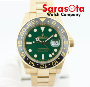 Rolex GMT-Master II 116718N 18KYG Green Dial Automatic Men's Watch Box/Papers