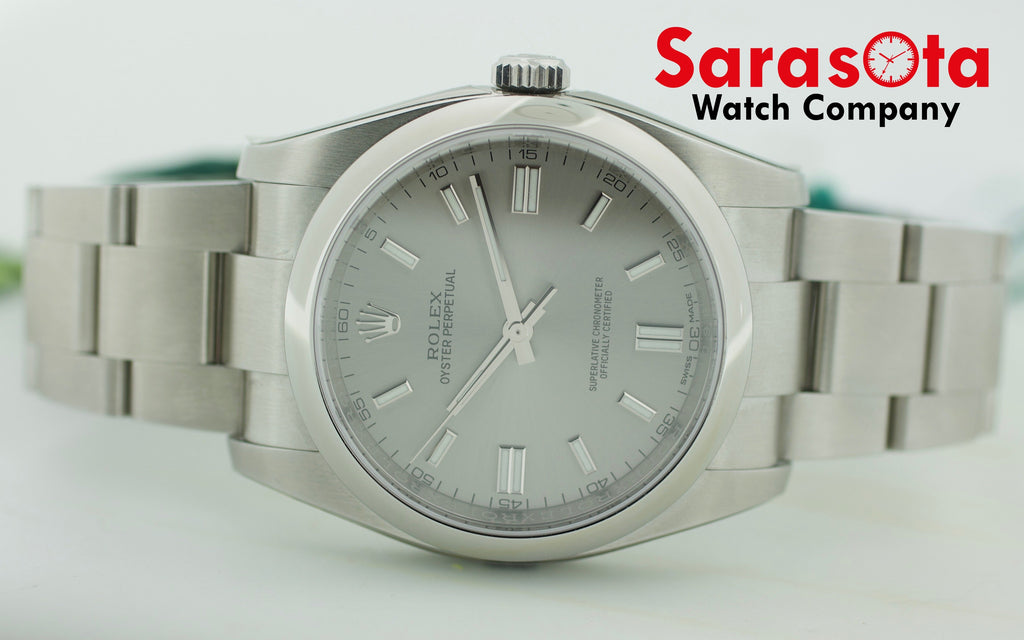 Rolex 116000 Stainless Steel Silver Dial Automatic Men's Watch w/B/Card - Sarasota Watch Company
