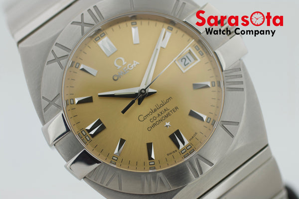 Omega Double Eagle C0-Axial Stainless Steel 39mm Swiss Automatic Wrist Watch