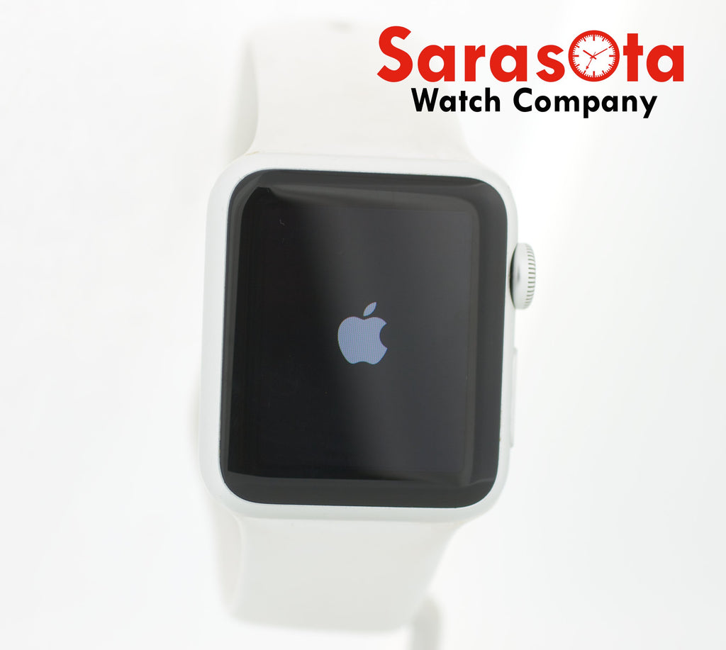 Apple Watch 38mm 7000 Series Silver Aluminum Ion X Glass Retina Sport Band - Sarasota Watch Company