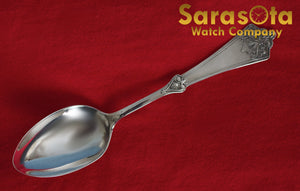 "Antique Sterling Silver Spoon 6"" Length Spoon Size 55mm x 32mm"