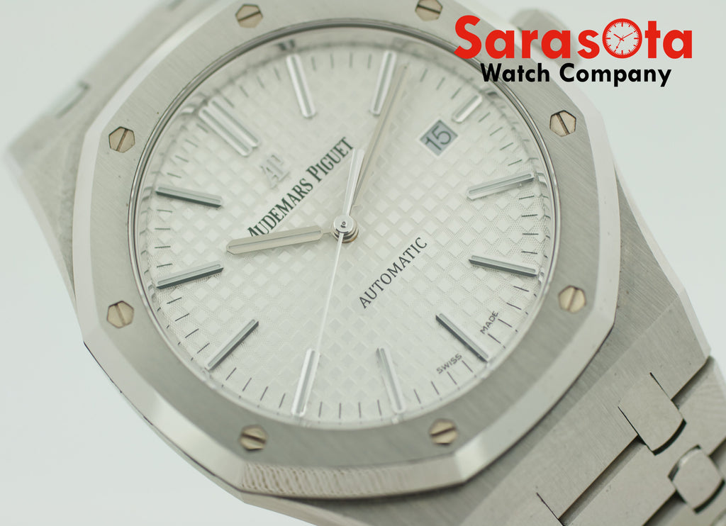 Audemars Piguet Royal Oak 15400ST.OO.1220ST.02 Steel 2017 Box/Papers Men's Watch - Sarasota Watch Company
