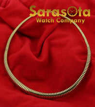"14k Yellow Gold Italy Polished 17"" Snake Style Necklace Hidden Box Clasp"