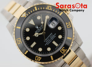 Rolex Submariner 116613LN Black Ceramic Two Tone 40mm 2015 Men's Watch w/Box/Papers