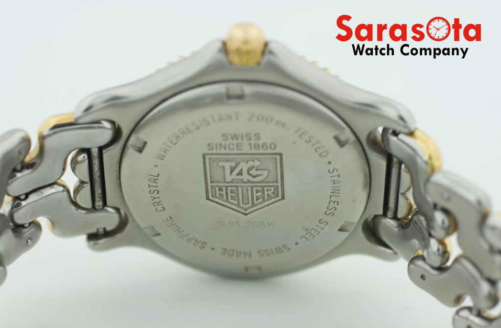 Vintage Tag Heuer Professional S95.206K Two Tone Grey Dial 38mm Men's Watch - Sarasota Watch Company