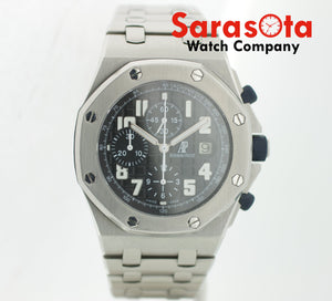 Audemars Piguet AP Royal Oak OffShore 14660 Chrono Black Dial Steel Wrist Watch
