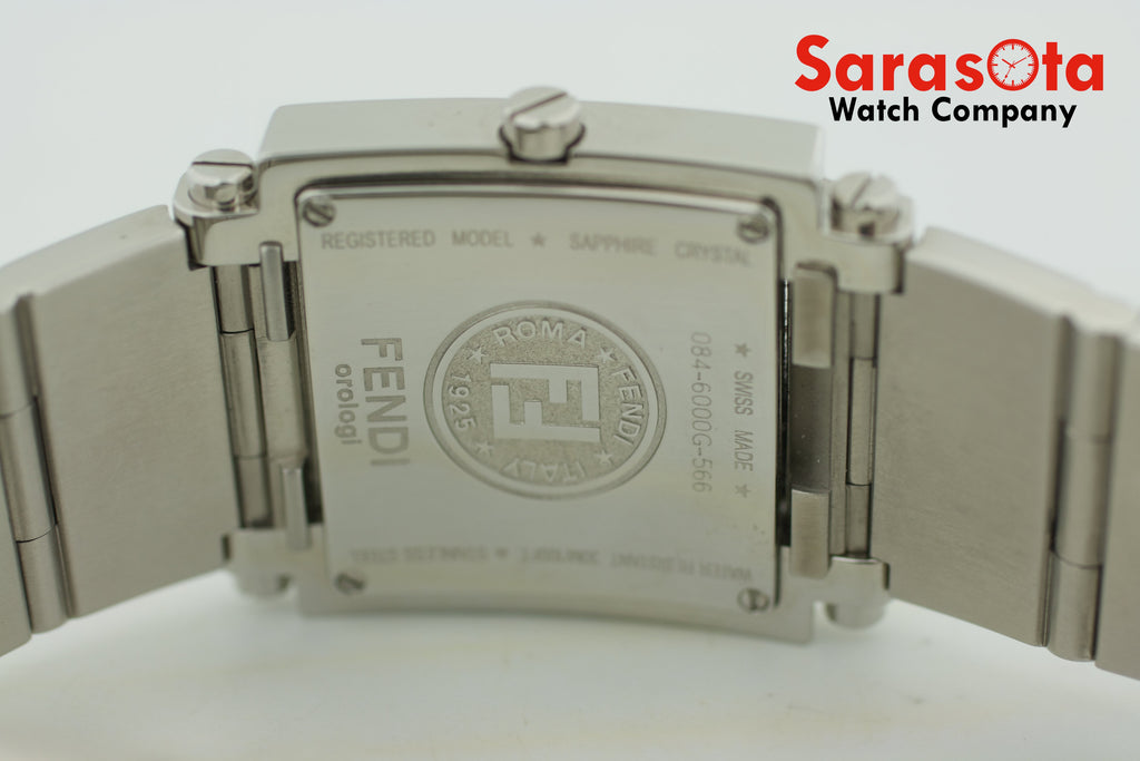 Fendi Orologi 084-6000G-566 Rectangle Stainless Steel Swiss Quartz Wrist Watch - Sarasota Watch Company