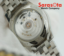 CYMA 2000.121 Two Tone Stainless Steel Black Dial Autoquartz 35mm Wrist Watch