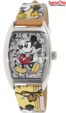 Disney Ingersoll IND25649 Mickey Dial Multi Color Leather Quartz Men's Watch