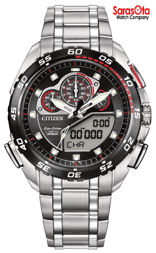Citizen Eco Drive JW0111-55E Pro Master Ana/Digi Stainless Steel Men's Watch