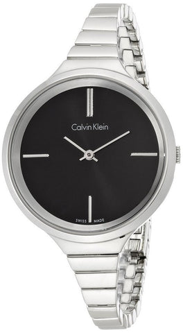 Calvin Klein K4U23121 Black Dial Stainless Steel Swiss Quartz Women's Watch