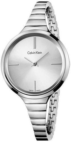 Calvin Klein K4U23126 Silver Dial Stainless Steel Swiss Quartz Women's Watch