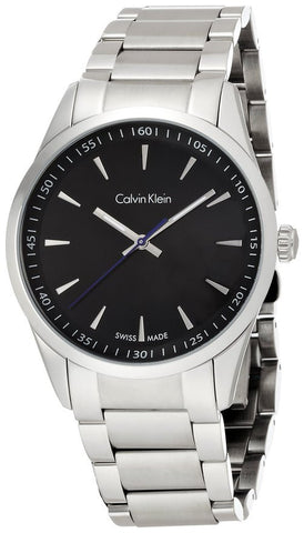 Calvin Klein K5A31141 Black Dial Stainless Steel Swiss Quartz Dress Men's Watch
