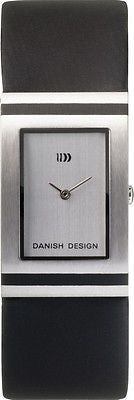 Danish Design IQ12Q523 Stainless Steel Case Silver Dial Leather Band Mens Watch