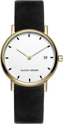 Danish Design IV11/IV15Q272 Titanium Case Leather Band Womens Watch