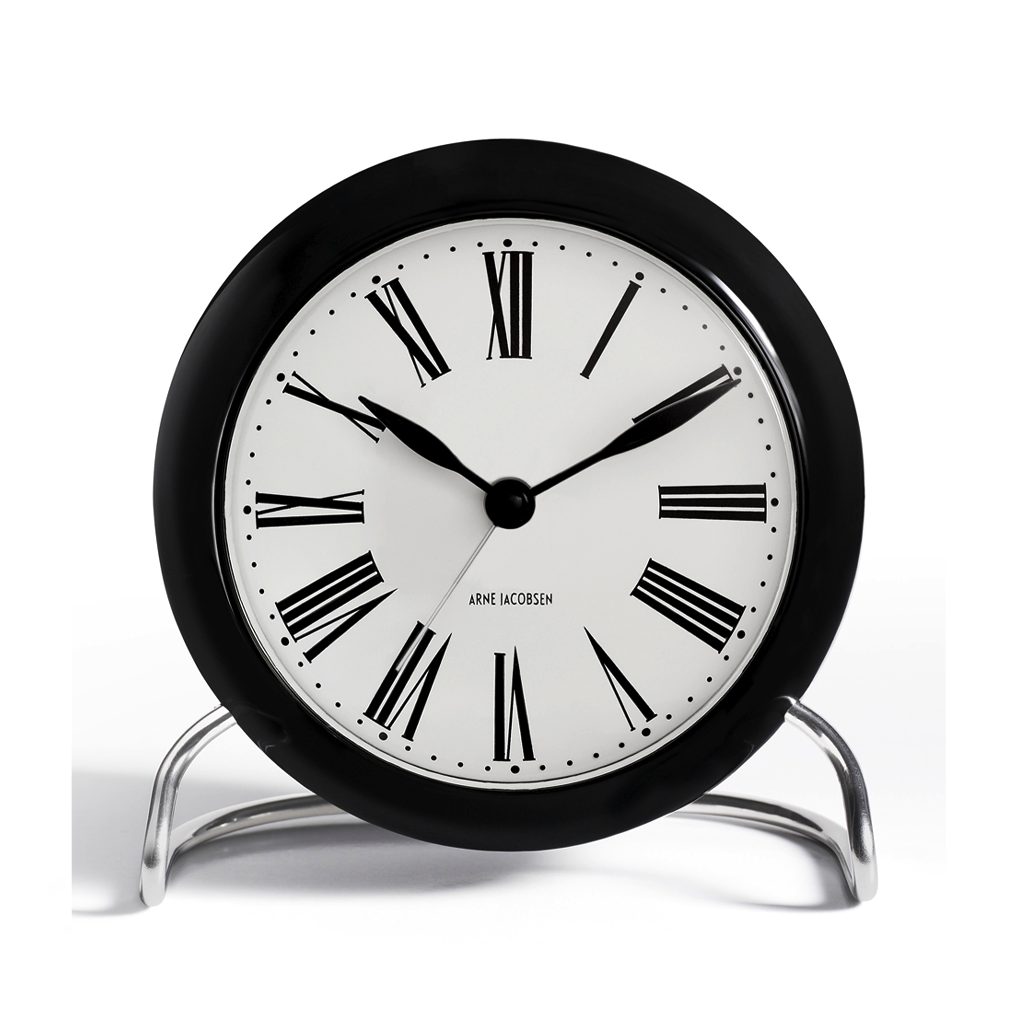 Arne Jacobsen RD-43671 Roman Black Table Desk Alarm Clock