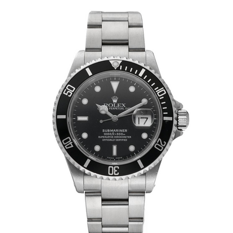Rolex 16610 Submariner Black Dial Stainless Steel 40mm 2000 Diver Men's Watch Sarasota watch company