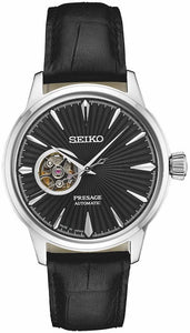 Seiko Presage SSA359 Black Sunray Dial Steel Leather Automatic Men's Watch