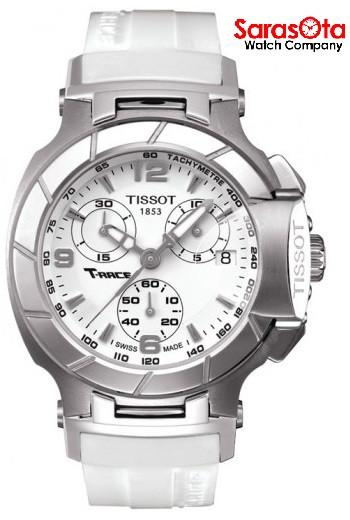 Tissot T-Race T048.217.17.017.00 Chronograph White Rubber Quartz Women's Watch - Sarasota Watch Company