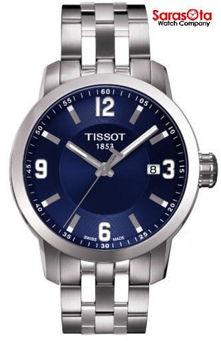 Tissot PRC200 T055.410.11.047.00 Blue Dial Stainless Steel Quartz Men's Watch