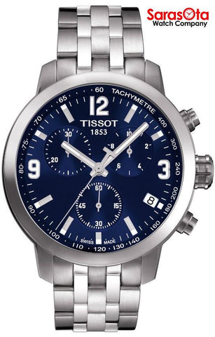 Tissot PRC200 T055.417.11.047.00 Blue Dial Chronograph Swiss Quartz Men's Watch