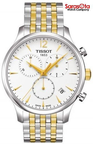 Tissot Tradition T063.617.22.037.00 Two Tone Steel Chronograph Quartz Mens Watch