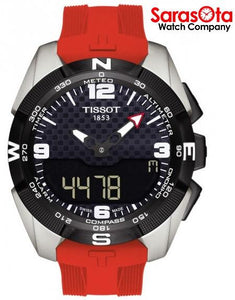 Tissot T-Touch Expert T091.420.47.057.00 Black Dial Red Rubber Solar Men's Watch