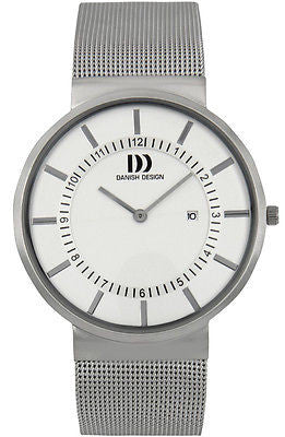 Danish Design IQ62Q986 Stainless Steel White Dial Men's Watch