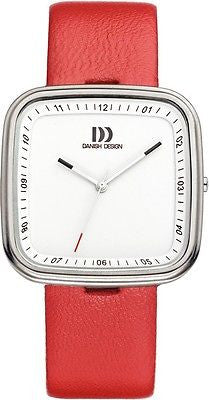 Danish Design IV24Q1003 Stainless Steel Case Red Leather Strap Women's Watch