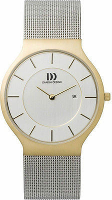 Danish Design IQ65Q732 Stainless Steel White Dial Gold Tone Case Men's Watch
