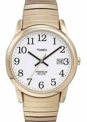 Timex T2H301 Stainless Steel Expansion Band White Dial Date Men's Watch