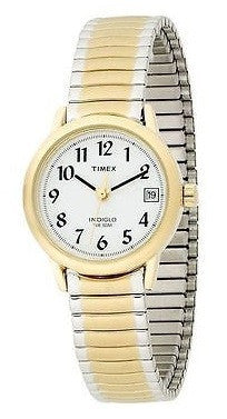 Timex T2H491 Two Tone Stainless Steel Expansion Band White Dial Women's Watch