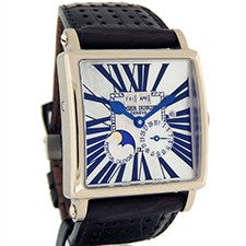 ROGER DUBUIS GOLDEN SQUARE PERPETUAL CALENDAR WHITE GOLD