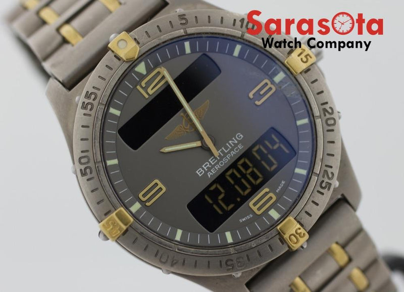 Breitling F56062 Aerospace Analog/Digital Titanium 40mm Swiss Quartz Men's Watch