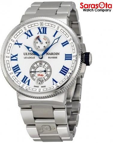 Ulysse Nardin Marine Chronometer 1183-126-7M/40 Stainless Steel Automatic Men's Watch