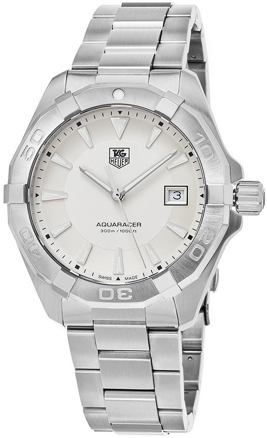 BRAND NEW Tag Heuer Aquaracer WAY1111 41MM Silver Dial Stainless Quartz Men's Watch