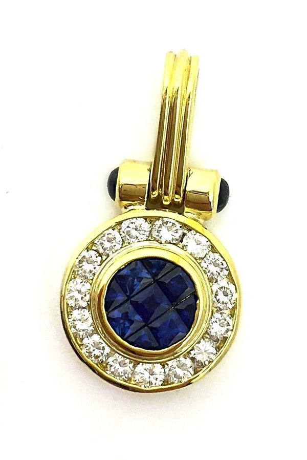 Tycoon 18K Yellow Gold Gem Sapphire & Diamond's Ladies Georges Pendant