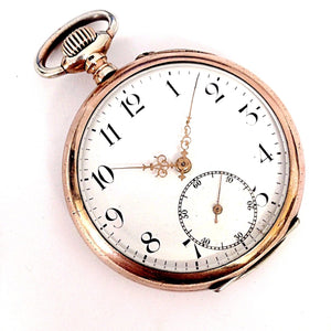 Vintage Pheonix French Oscar II Size 14 15 Rubis Paris 1900 Silver Pocket Watch