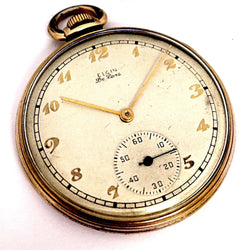 Vintage Elgin De Luxe 17 Jewels 4 Adjustments 10K Gold Filled Pocket Watch