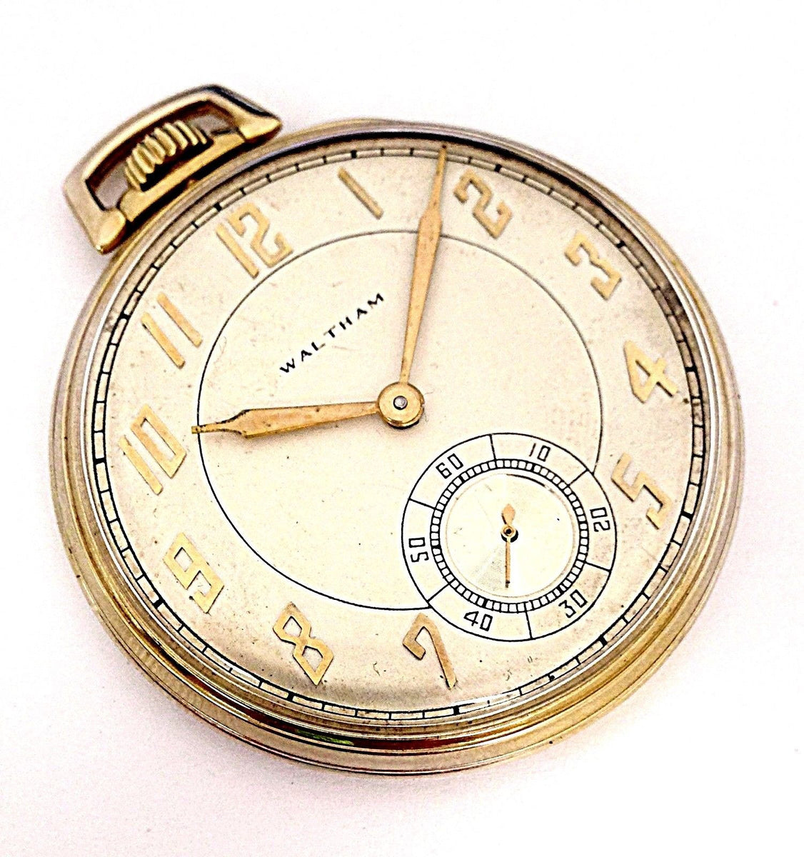 Vintage Waltham 14K Yellow Gold 21 Jewels 5 Positions ...